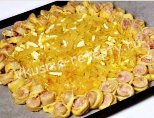 пирог с колбасой фото