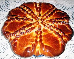 сладкий пирог дрожжевой фото