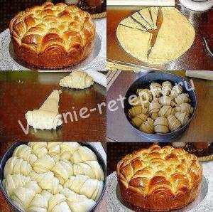 Дрожжевой пирог с начинкой фото
