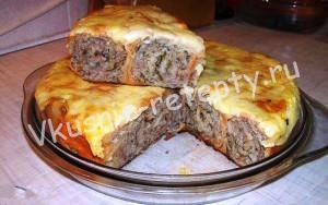 мясной пирог из лаваша фото