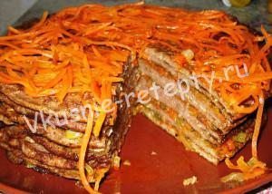 печёночный торт рецепт с фото