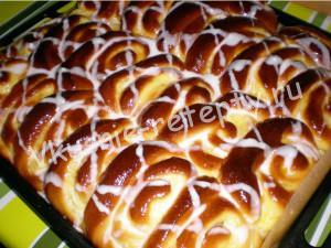 пирог Улитка с пудингом фото