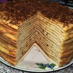 Торт на сгущеном молоке фото