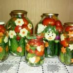маринованные помидоры с огурцами фото