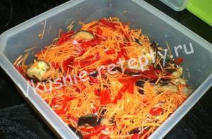 Маринованный овощной салат фото