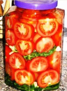 Консервированные помидоры дольками фото