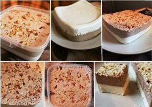 ванильно-шоколадный творожный десерт фото