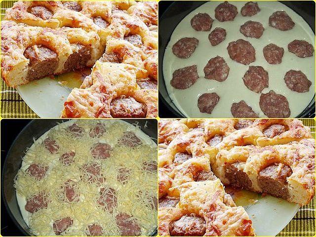 Вкусненький пирог с фрикадельками готовлю всего за 20 минут! Удачный рецепт. Советую.