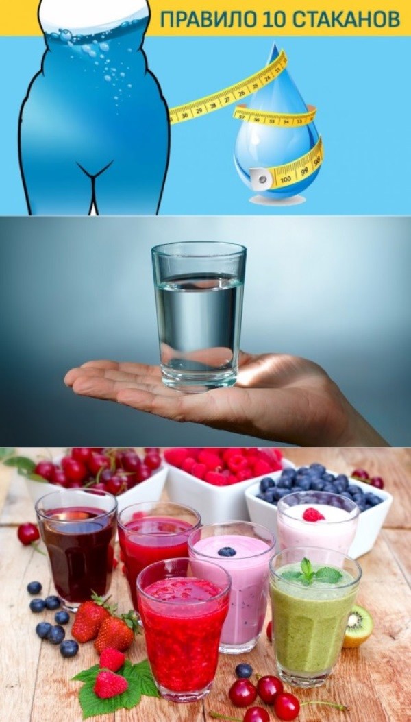 Диета «10 стаканов». Если выпиваешь за 20 минут до еды, есть можно что душе угодно!