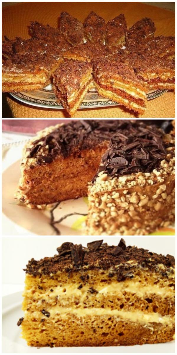 Приготовлю сегодня же! Обалденный торт «Мужской идеал».