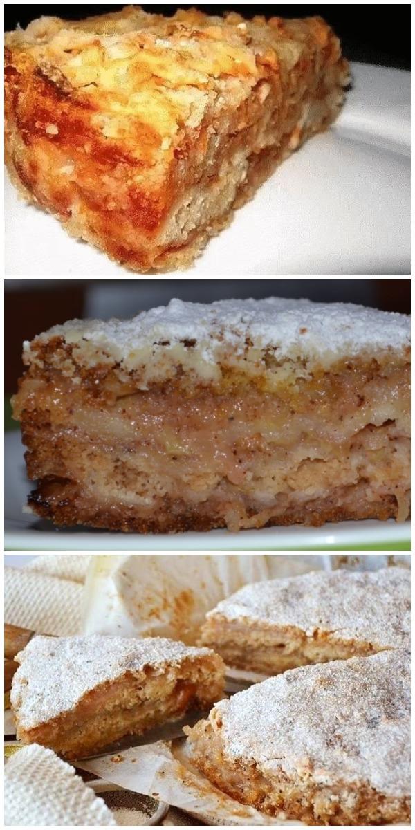 Обалденный рассыпчатый яблочный пирог по маминому рецепту. Получается ну очень вкусно