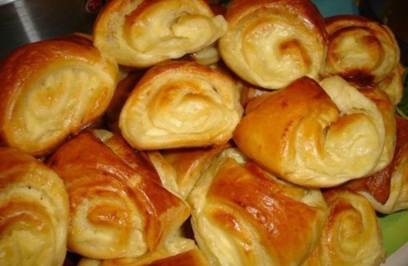 Простые булочки с творогом. Вкусные и ароматные