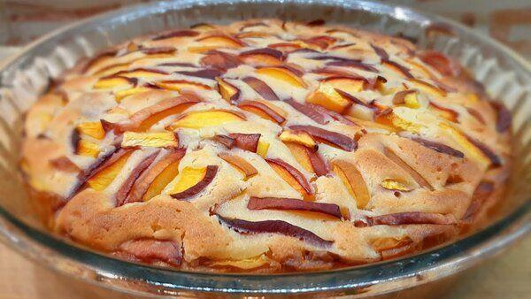 Фруктовый пирог без возни